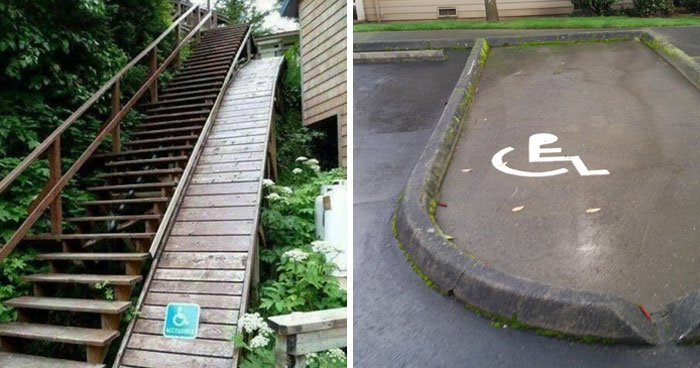 30 Diseños de accesibilidad que son directamente ofensivos