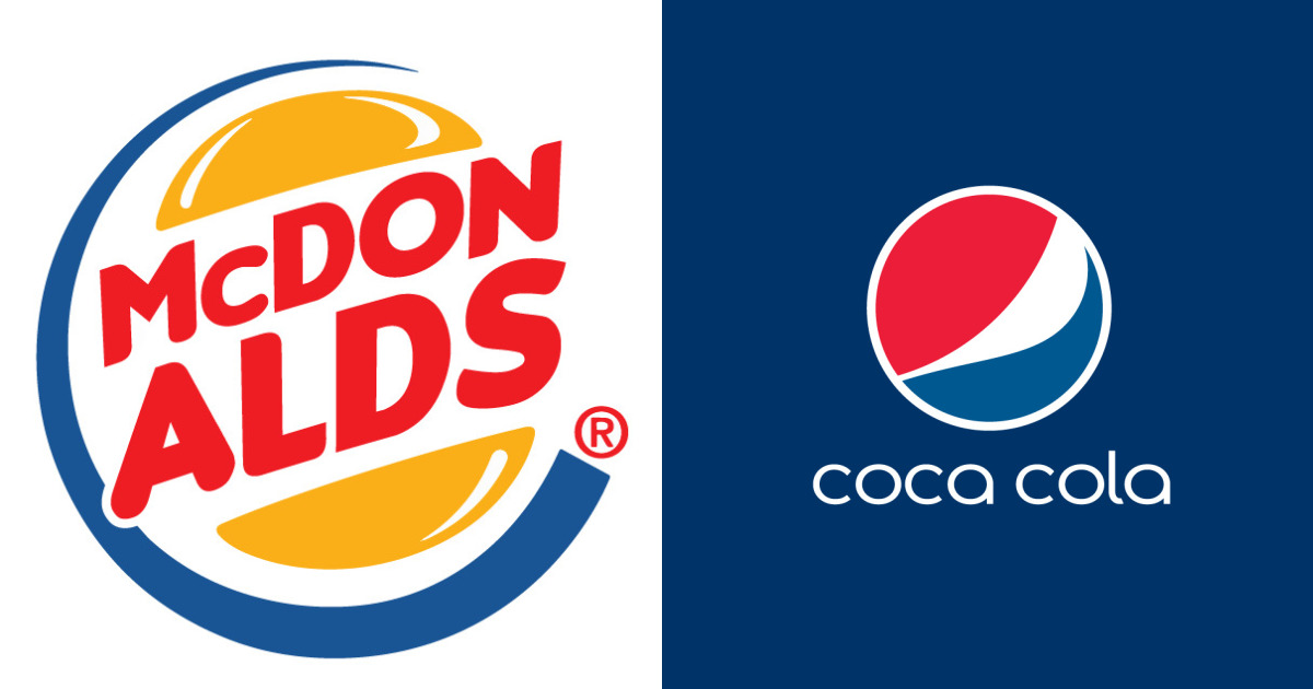 We Made 10 Confusing Pics That Mix Up Famous Rival Brand Logos
