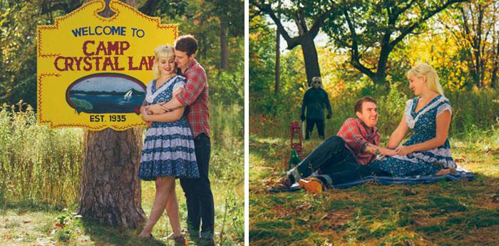 Esta pareja se hizo la más terrorífica sesión de fotos de compromiso