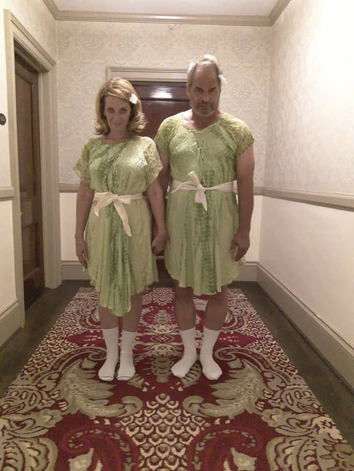 Lucky Enough To Find Matching Dresses For My Boyfriend And Me So We Could Do This Pose At The Stanley Hotel. Estes Park, Co Thrift Shop