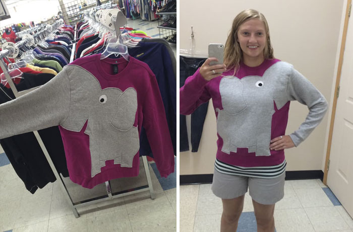 Yes I Did Buy This Elephant Sweatshirt. Made Me Laugh Too Hard Not Too