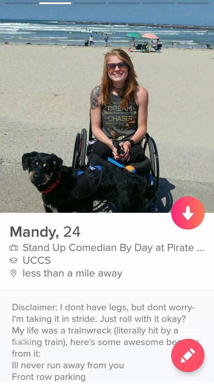 12 Funny Tinder Bios From Amputees Who Did Not Lose Their Sense Of