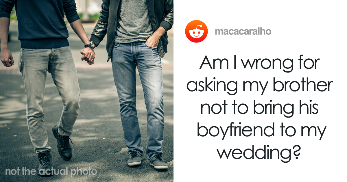 Groom Wants To Know If He's Wrong For Not Letting His Secretly Gay Brother To Come Out To The Family At His We