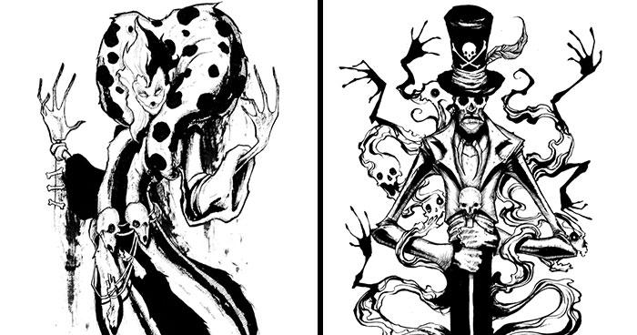 I Reimagined Disney Villains To Look Creepier (12 Pics)