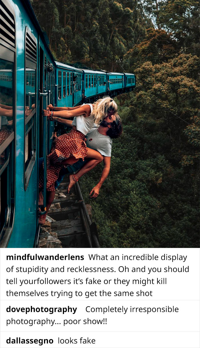 Instagram Influencers Called Out For Incredibly Dangerous Kiss On Moving Train