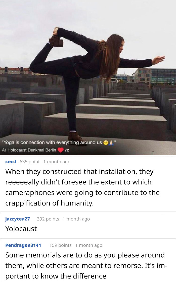 Doing Yoga On The Berlin Holocaust Memorial