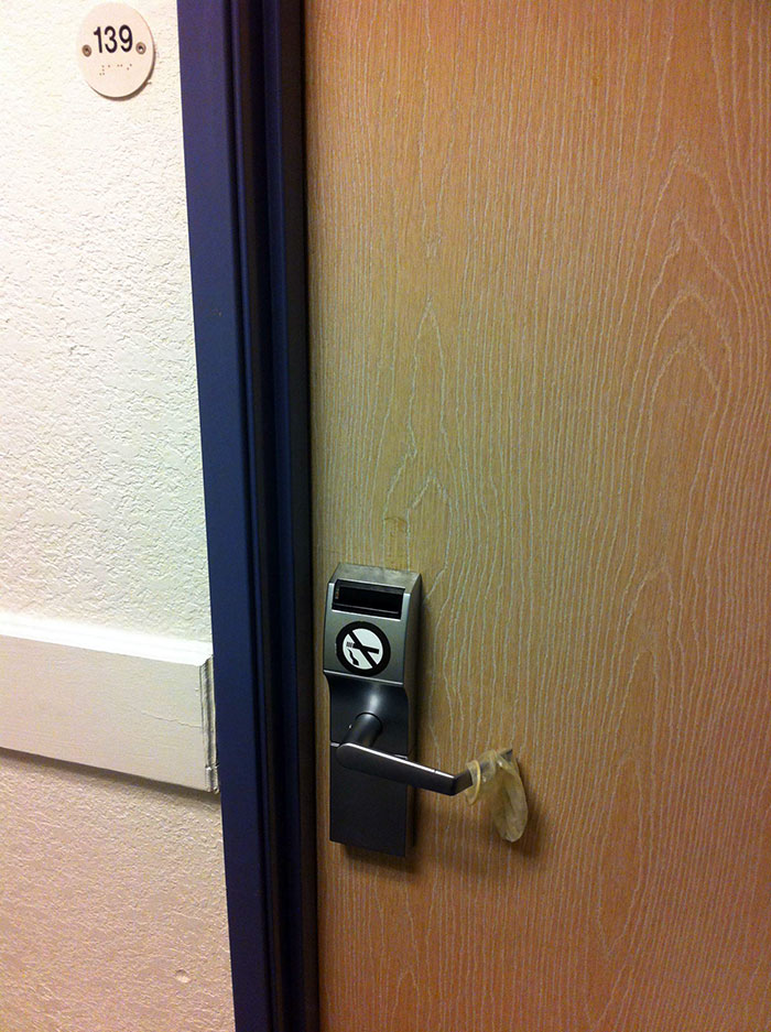 Is This The New Hotel Do No Disturb Sign? (Seen At A Motel 6)