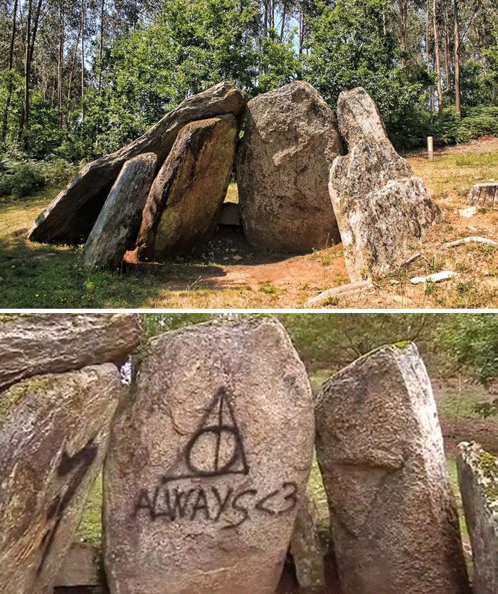 2,000-Year-Old Megalithic Tomb In Spain Vandalized With Harry Potter References