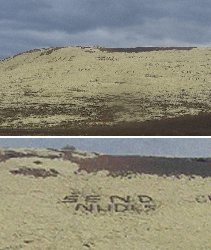 Tourists Destroy Natural Wonder By Carving 'Send Nudes' Into It