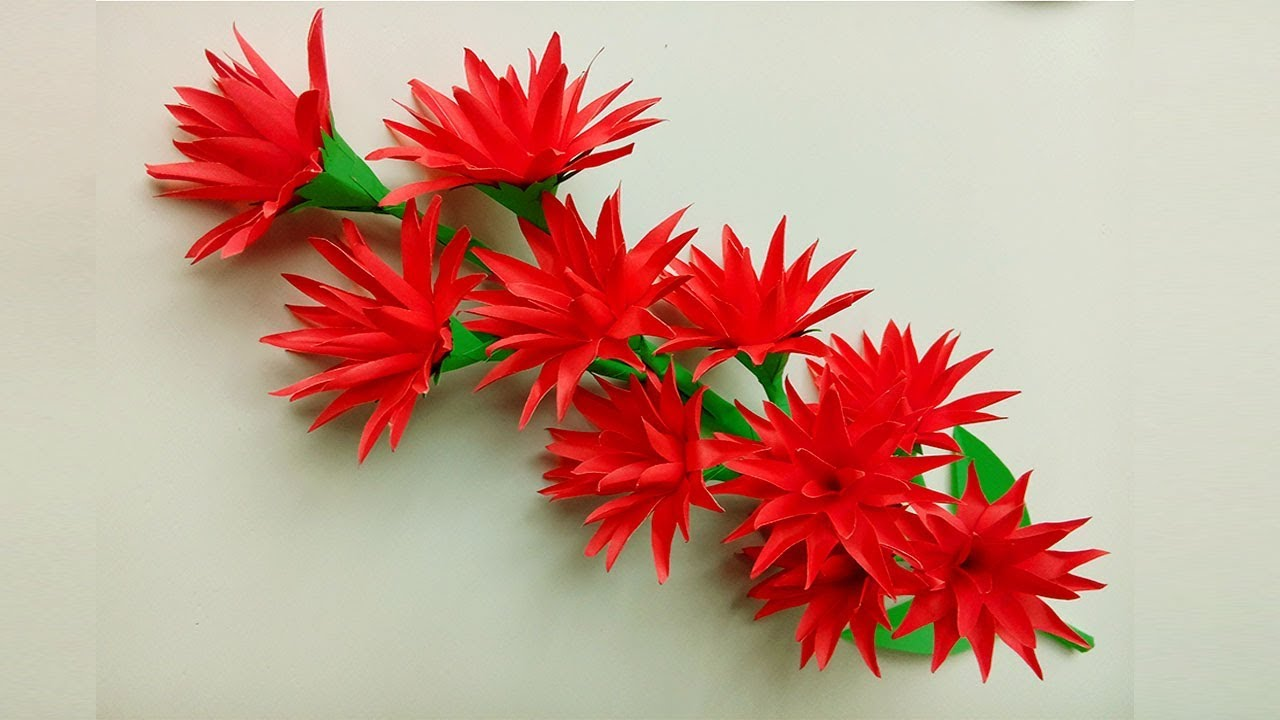 Easily Decorate Your House With Paper Flowers