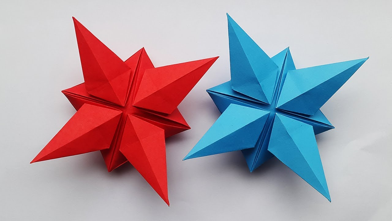 Easy Paper Star Making For Christmas ⭐ DIY Christmas Decorations