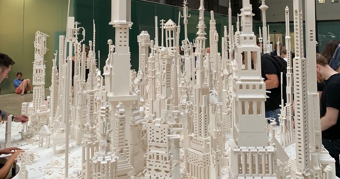Every Visitor Can Contribute To Building This City Out Of White