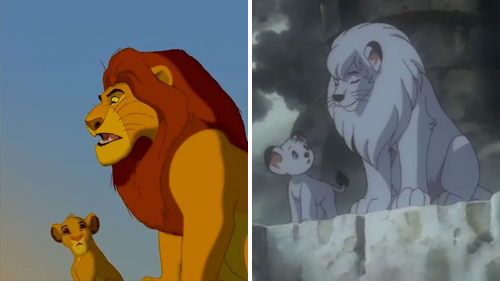 Disney Gets Accused Of Stealing The Idea For Lion King From Kimba The White Lion And Some Frame By Frame Comparisons Are Convincing Bored Panda