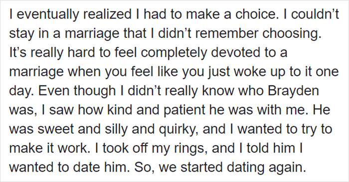 Woman Starts Dating A Man She Married Before The Head Injury That Made Her Forget Everything Since The Age Of 17