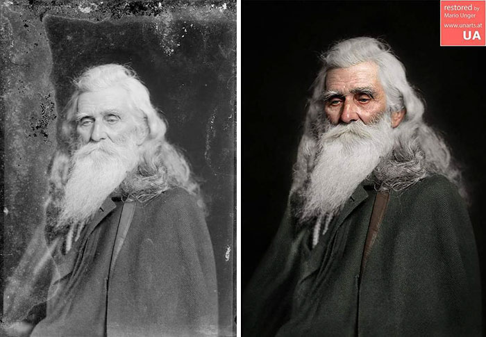 Old Man, Photo By C.m.bell Ca 1890. Library Of Congress, Glass Plate Negative