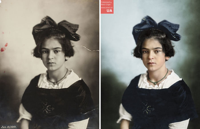 An Eleven-Year-Old Frida Kahlo By Guillermo Kahlo, June 15, 1919