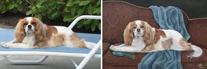 cachorro de estimação Patches, Oil On Canvas, 20x30