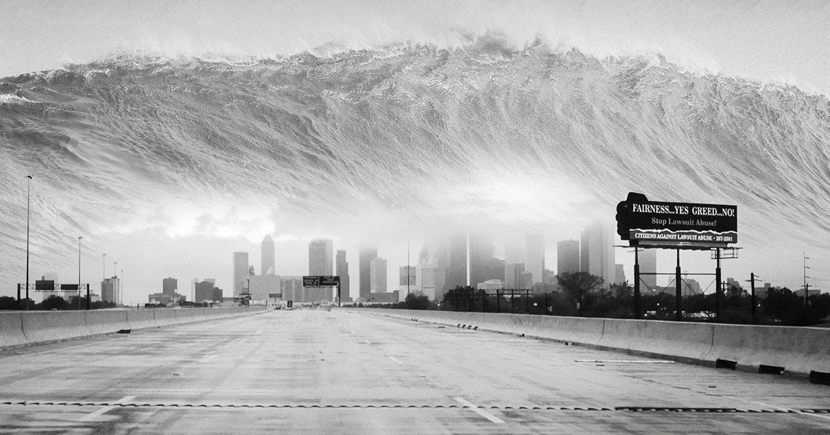 I Show My Recurring Nightmares Of Flooded Landscapes And Tsunami-Like Scenarios Through Photography (12 Pics)