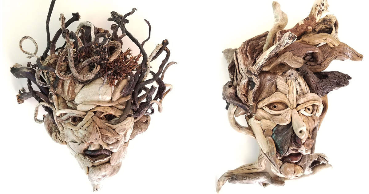 I Decided To Do Something That Would Get Me Away From The Computer, So I Started Making Driftwood Portraits (8