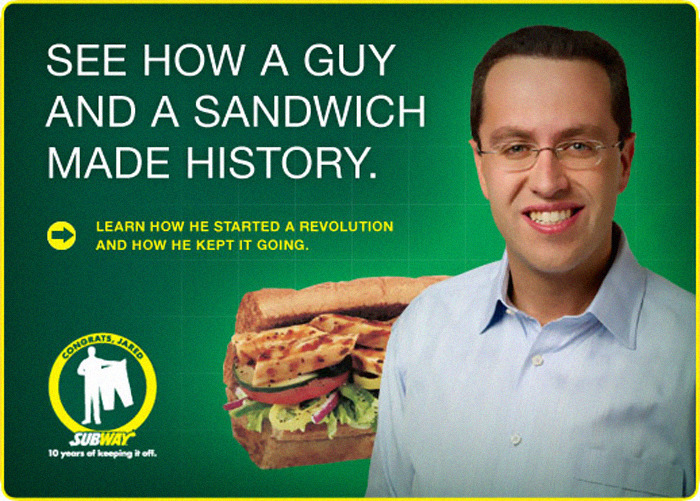 Jared Fogle's Subway Ads