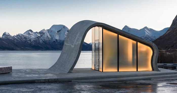 Norway Creates Possibly The Most Beautiful Public Toilet In