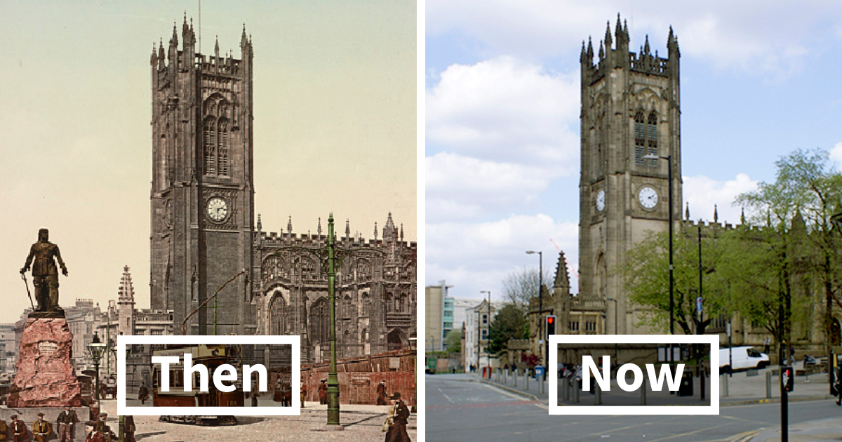 Before-And-After Photos Reveal 125-Year Transformation Of 7 English Cities