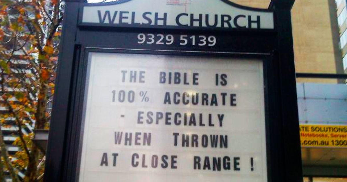 This Church In Australia Has The Funniest Signs (30 Pics)