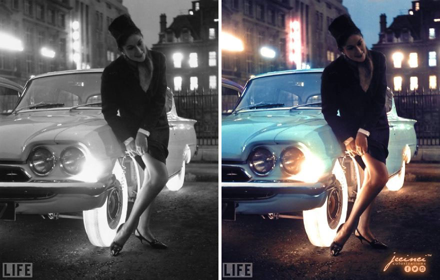 Illuminated Tires Developed By Goodyear In 1961