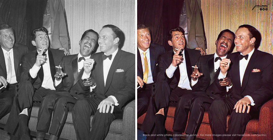 """""""The Rat Pack"""" In NY, Carnegie Hall's Backstage, 1960s"""