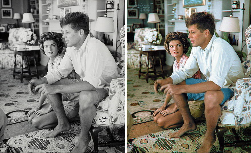 Newly Engaged Couple, Senator John F. Kennedy And Jacqueline Bouvier, Relaxing At The Kennedy Family Home In Hyannis Port In Cape Cod, Massachusetts On The 4 July 1953