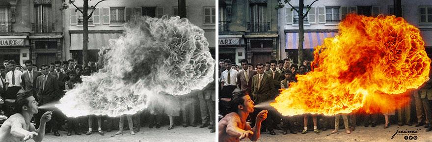 Fire Spitter - Cracheur De Feu, Boulevard De Rochechouart, Paris, 1949