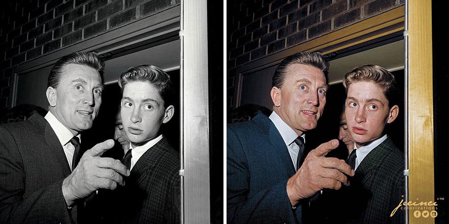 Kirk And Michael Douglas, 1960