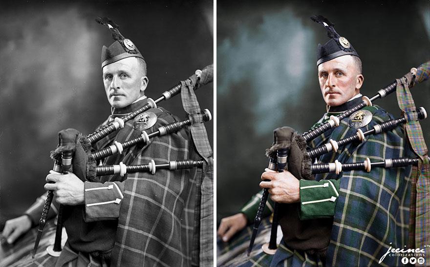 Man In Scottish Uniform O S C