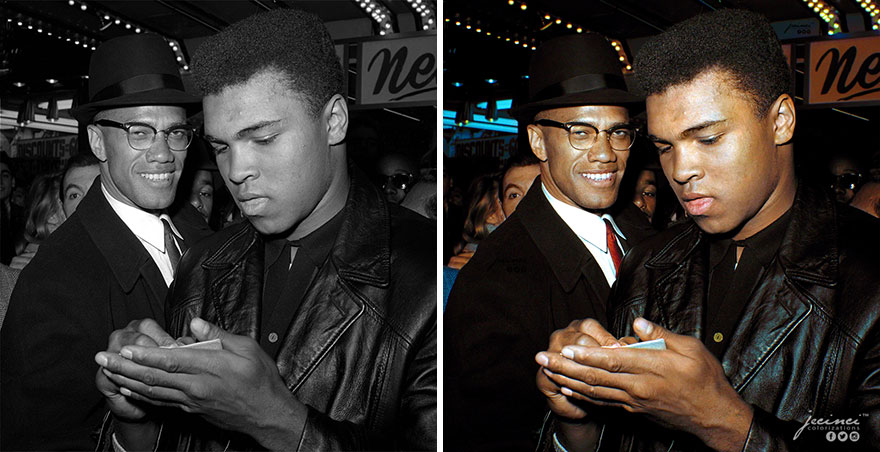 Malcolm X And Muhammad Ali, New York, March, 1964