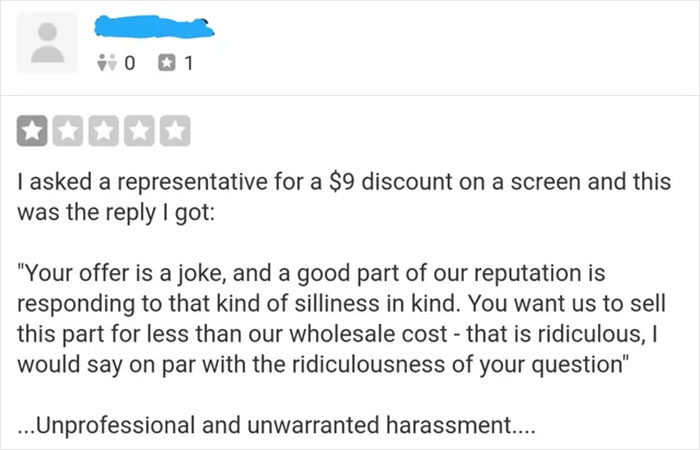 Guy Who Fails To Get A $9 Discount Leaves A 1-Star Review, Gets Shut Down By The Store Owner's Epic Comeback