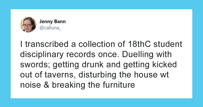 Woman Shares 18th Century Student Disciplinary Records In Response To 'Millennials Are The Worst' Claim