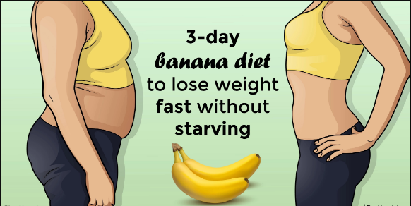 3-day effective banana diet to lose weight fast without starving