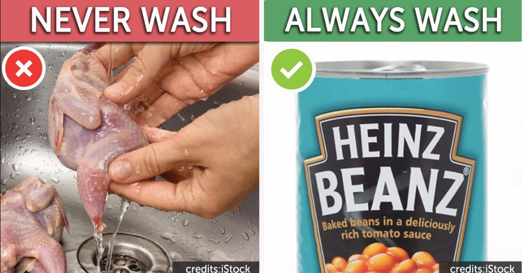 5 Foods You Should Never Wash Before Cooking and 5 You Always Should