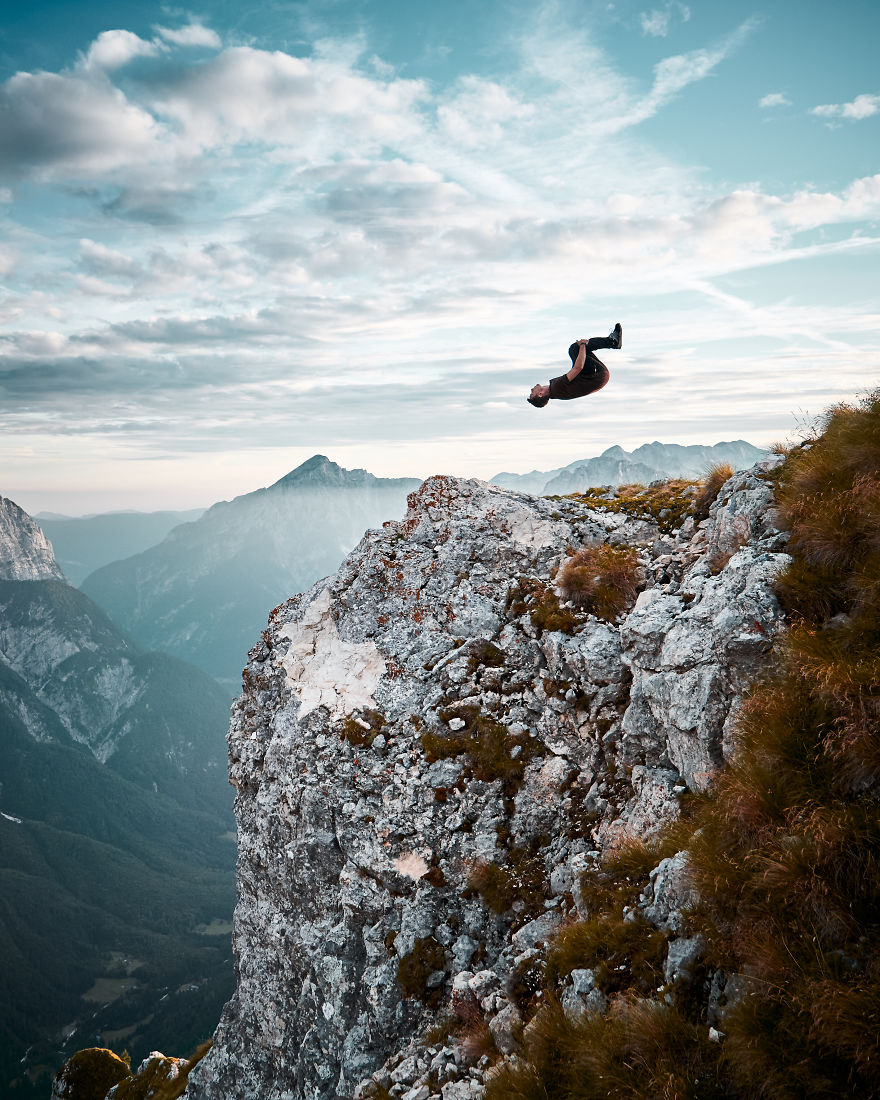 Backflip On A Mountain Top