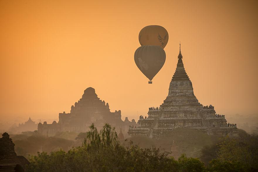 The Golden Hour Of Bagan