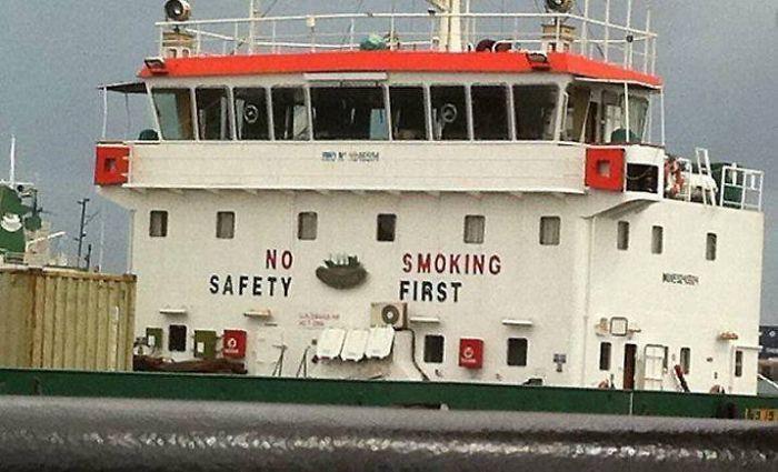 No Safety. Smoking First