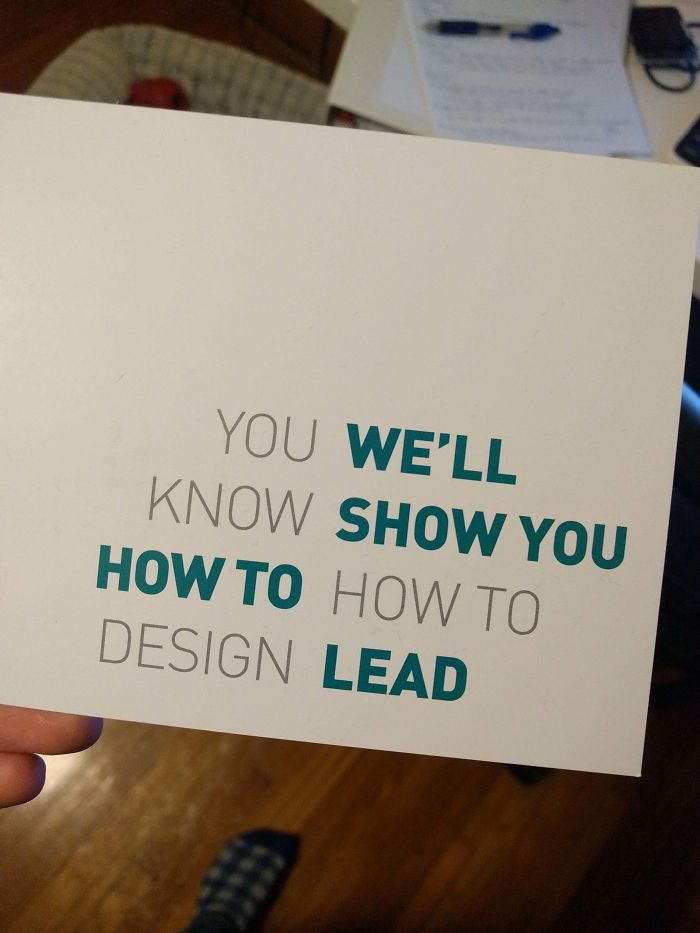 The Design School I Graduated From Sent This Postcard Out