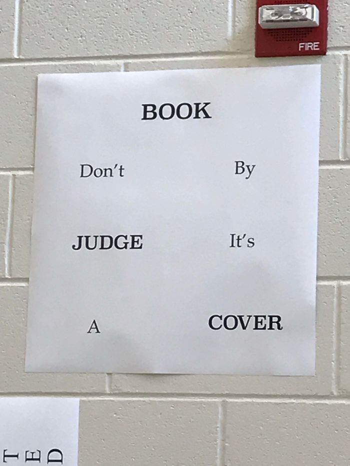 Book Don't By Judge It's A Cover At My High School