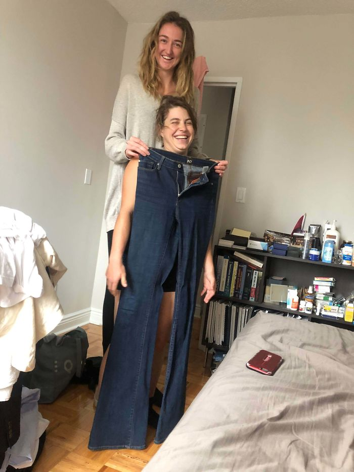 """Gave My Friend My Pants To Use As A Blanket During Our Sleepover. 6'5 And 40"""" Inseam"""