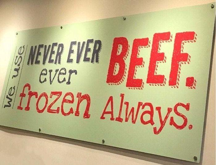 Never Ever Ever Beef. Frozen Always