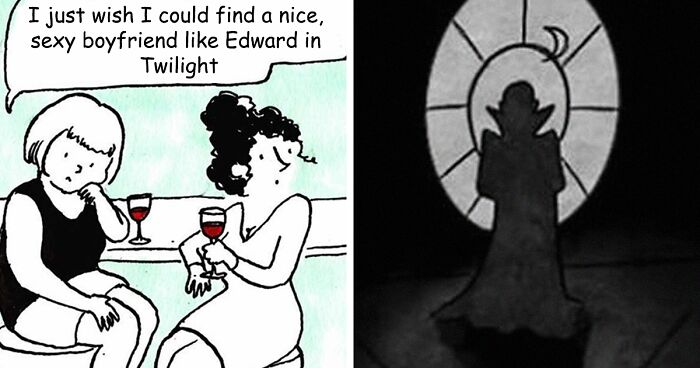 Artist Imagines What Having A Vampire Boyfriend Is Like And It's Not The One From Twilight