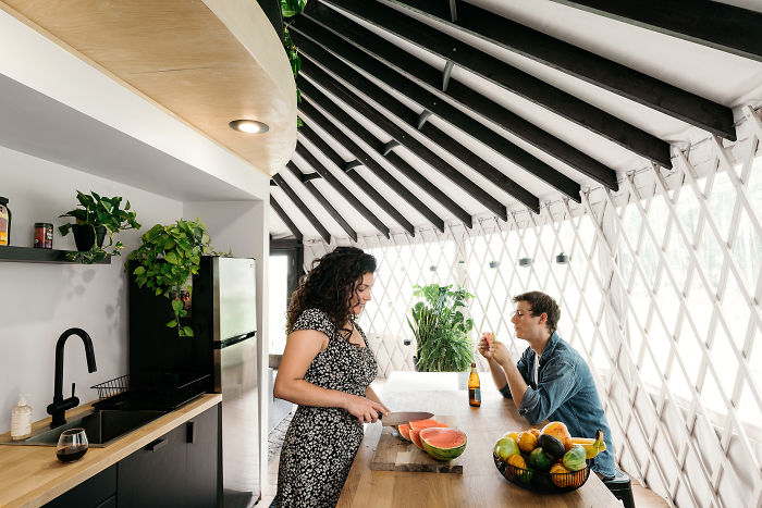 Couple Spends A Year Building Their Dream Yurt And It Looks Amazing