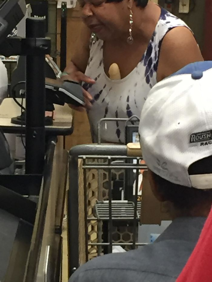 What Is It In Your Cleavage... At The Grocery Store?