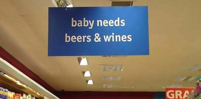 Baby Needs Beers & Wines