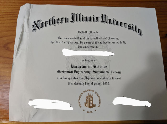 Took Me 5 Years To Get This Diploma And USPS Drops It In A Puddle